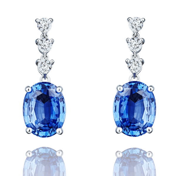 Sapphire and Diamond Detachable Drop Earrings
