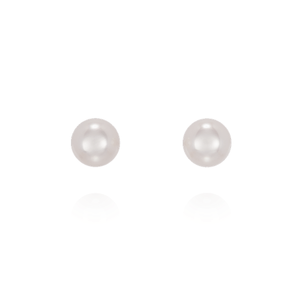 5-5.5mm Akoya Cultured Pearl Stud Earrings