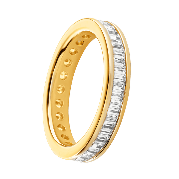 18ct Yellow Gold Baguette Cut Eternity Ring