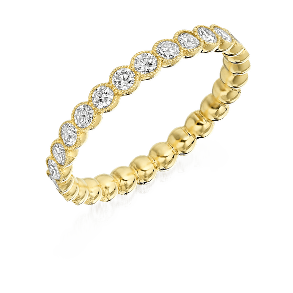 18ct Yellow Gold Full Eternity Ring With Scalloped Edge