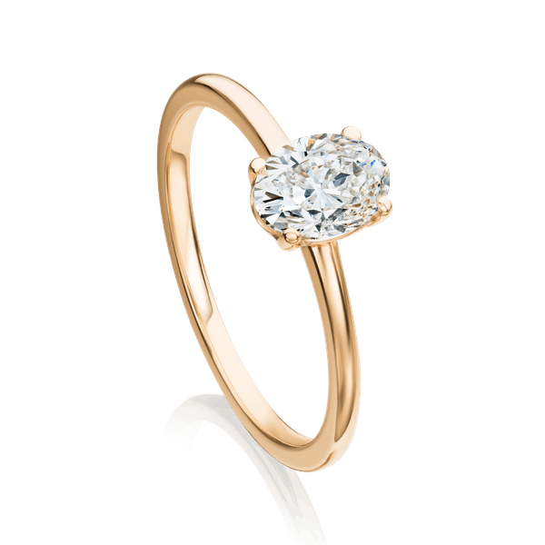 Rose Gold Oval Diamond Engagemen Ring