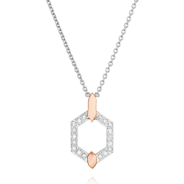 Nectar Collection Diamond Set Pendant With Rose Gold