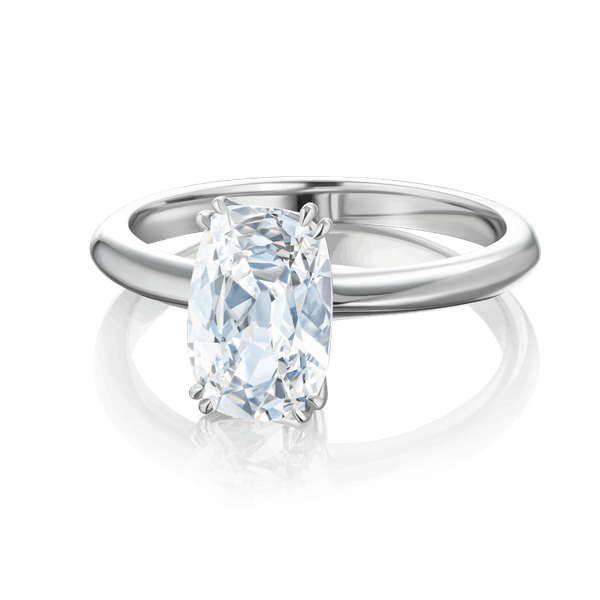 Solitaire Cushion Cut Diamond Engagement Ring