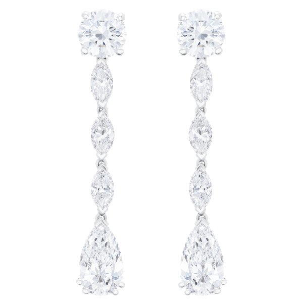 Detachable Diamond Drop Earrings