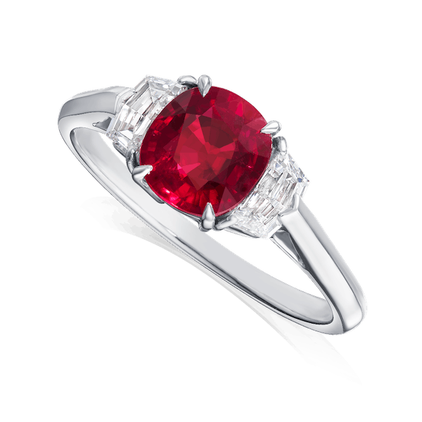Natural 'Pigeon Blood' Ruby Ring