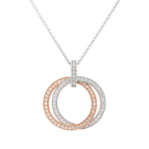 Double Diamond Circle Pendant