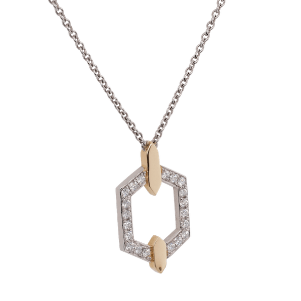 Platinum Nectar Pendant With Yellow Gold Accents
