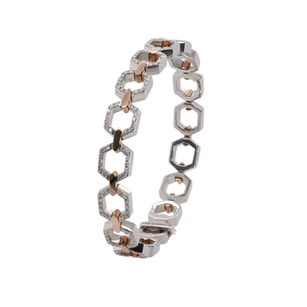 Nectar Collection Platinum and Rose Gold Bracelet