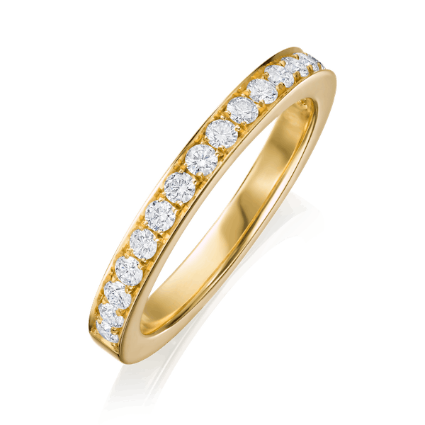 2.5mm G. Collins and Sons Half Eternity Ring