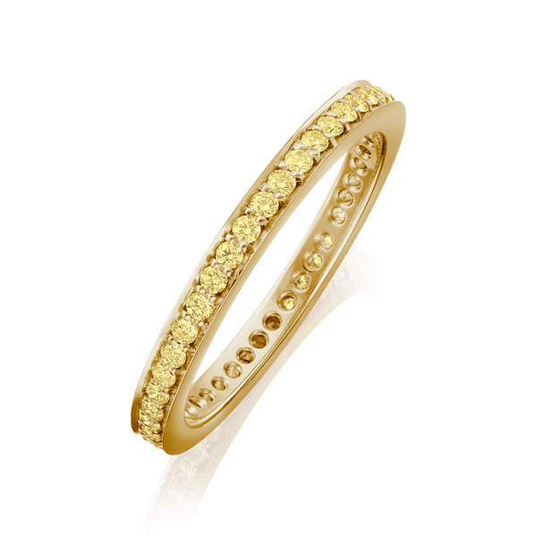 2mm G. Collins and Sons Natural Yellow Diamond Eternity Ring