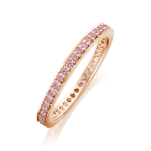 2mm G. Collins and Sons Pink Diamond Eternity Ring