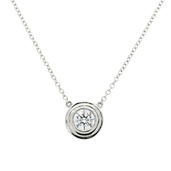 Diamond Pendant With Platinum Surround