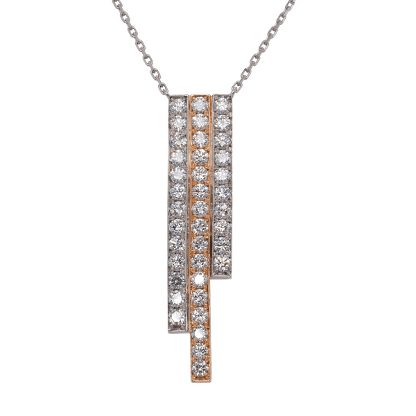 GC Skyline Platinum and 18ct Rose Gold Pendant