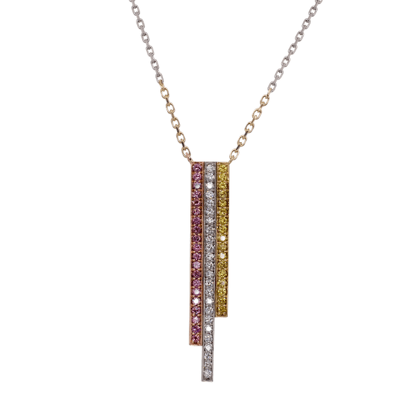 Three Colour Diamond GC Skyline Pendant