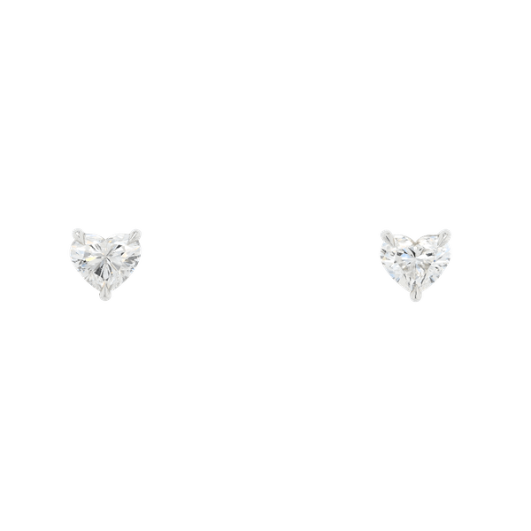 1.09ct Total Heart Shape Diamond Stud Earrings