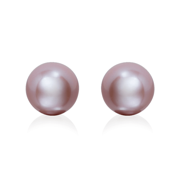 9.7mm Pink Freshwater Pearl Earrings