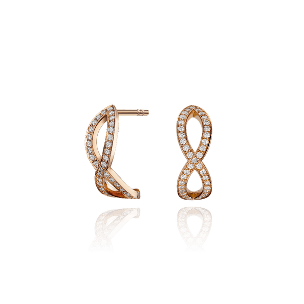 18ct Rose Gold Skyline Crossover Earrings