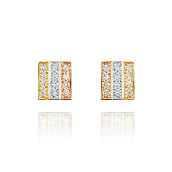 Skyline Tri-Colour Stud Earrings