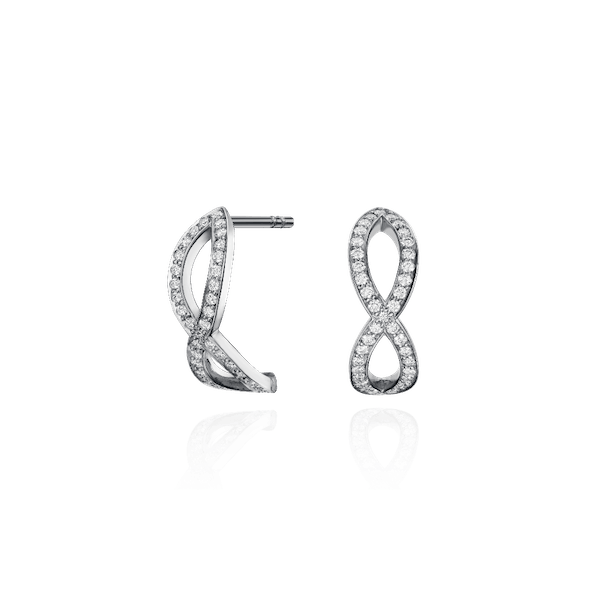 Platinum Skyline Crossover Earrings