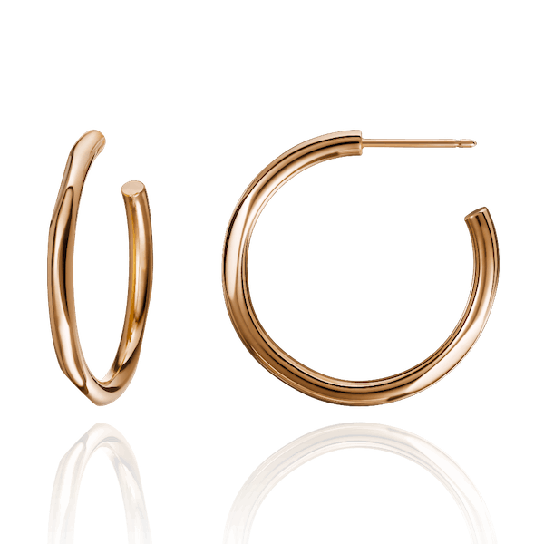 Solid 18ct Rose Gold Hoop Earrings