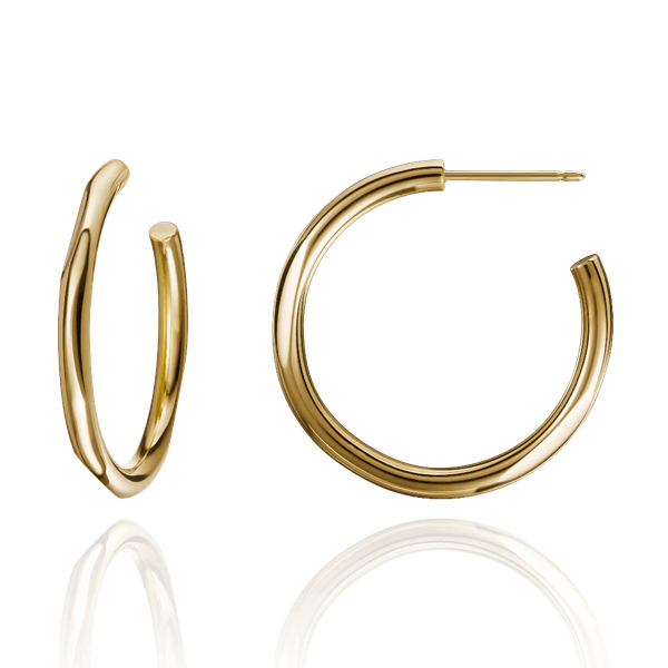 Solid 18ct Yellow Gold Hoop Earrings