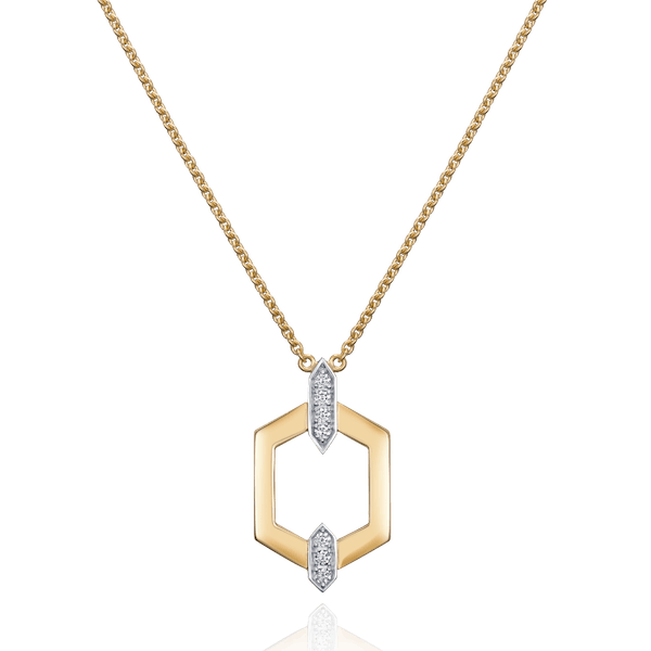 Nectar Collection 18ct Yellow Gold Pendant With Diamond Set Accents