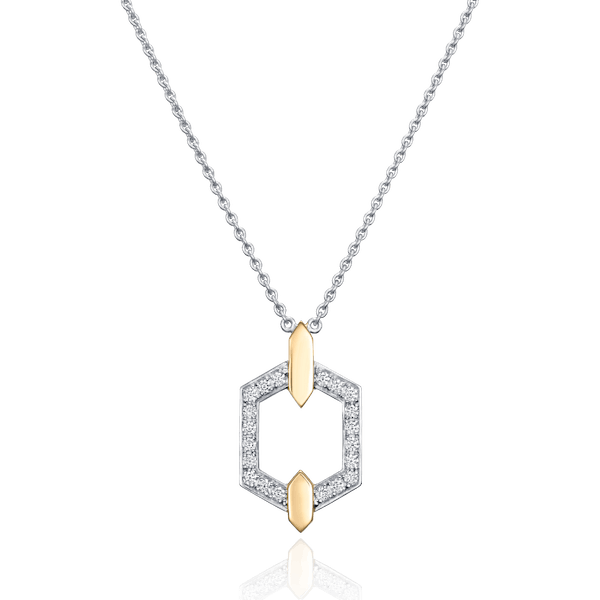 Nectar Collection Diamond Set Pendant With Yellow Gold