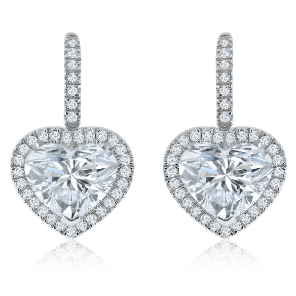 Heart Shape Diamond Drop Earrings
