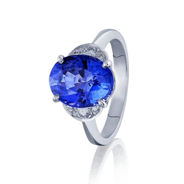 Colour Change Sapphire and Diamond Ring