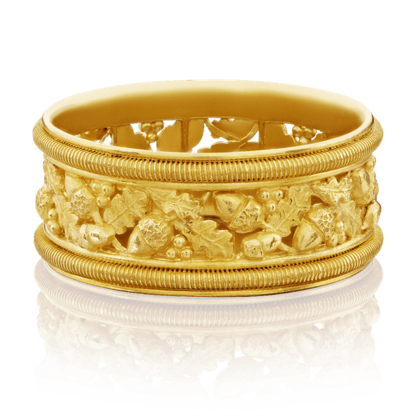 Carlo Giuliano 18ct Yellow Gold Carved Ring